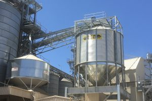 structural steel additions to grain silos